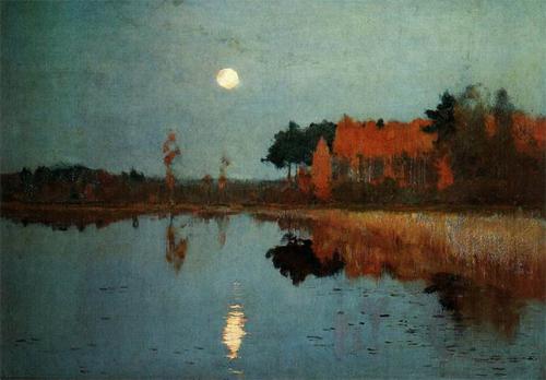 levitan-moon-lake