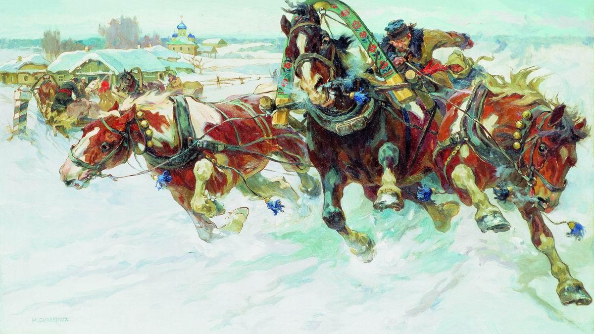 Картинки и фото тройки русской зимой