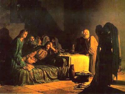 Тайная Вечеря - пасхальная трапеза Христа с учениками.  Весь день Господь проповедовал в Иерусалимском храме...