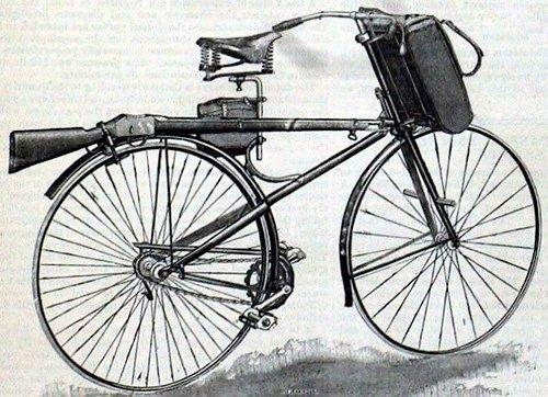 """Первый военный велосипед """"Премьер"""", 1888 год"""