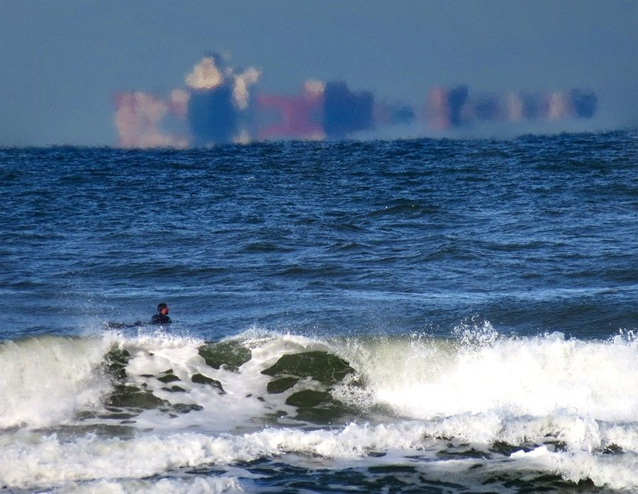 Мираж на море
