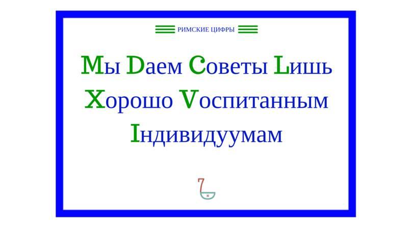 Реферат на тему римские числа 1174