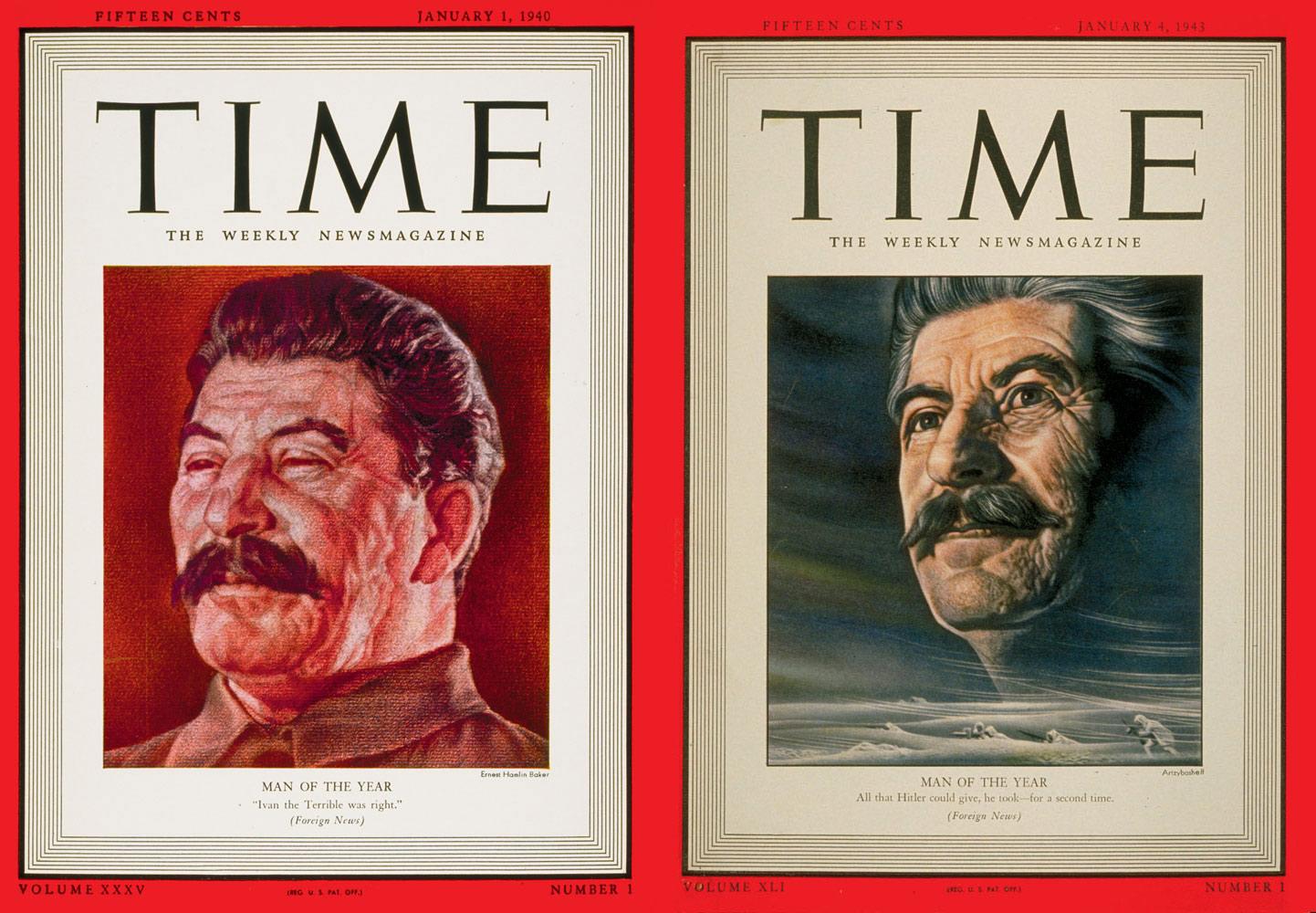 Русские правители на обложке Time