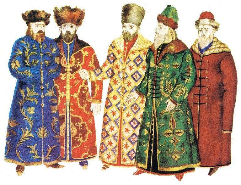 Главные предметы мужской русской одежды