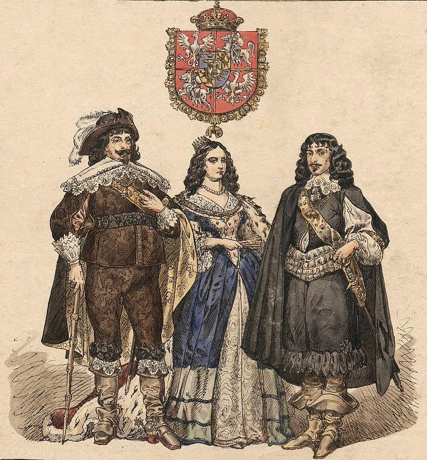 Владислав с женой Сесилией и братом Казимиром