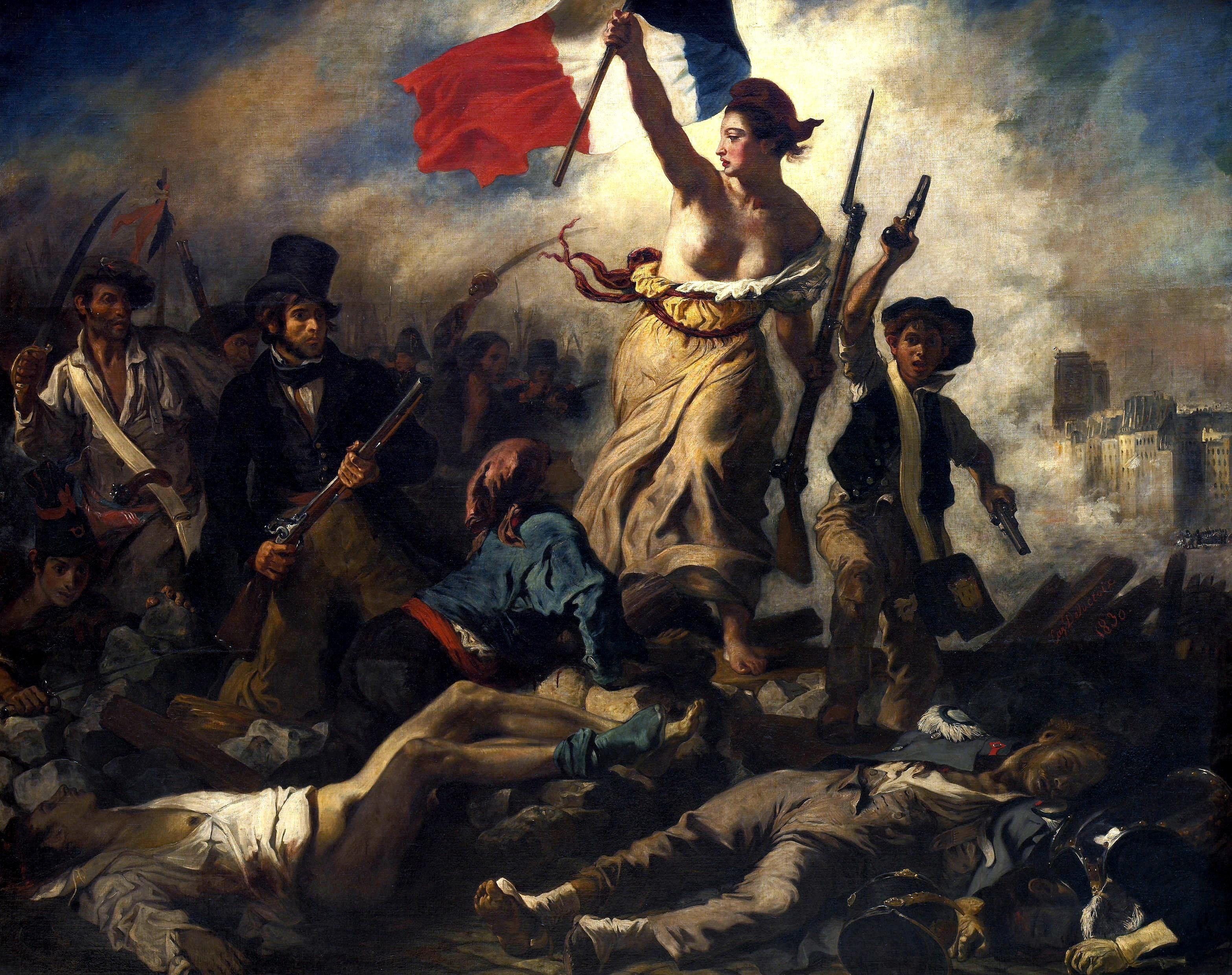 «Свобода, ведущая народ» Эжена Делакруа.
