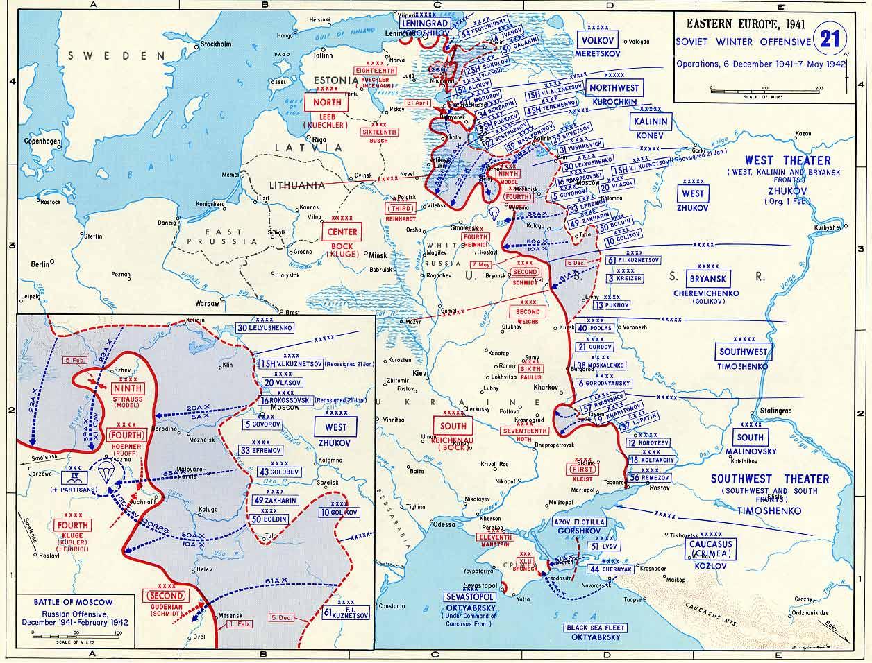 Контрнаступление под Москвой, 5 декабря 1941 - 7 мая 1942 года