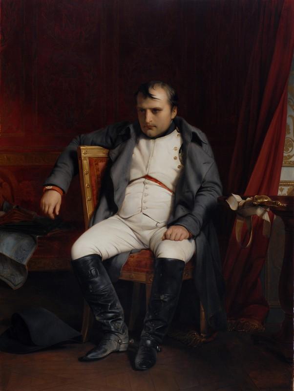 Наполеон Бонапарт после отречения во дворце Фонтенбло. Деларош