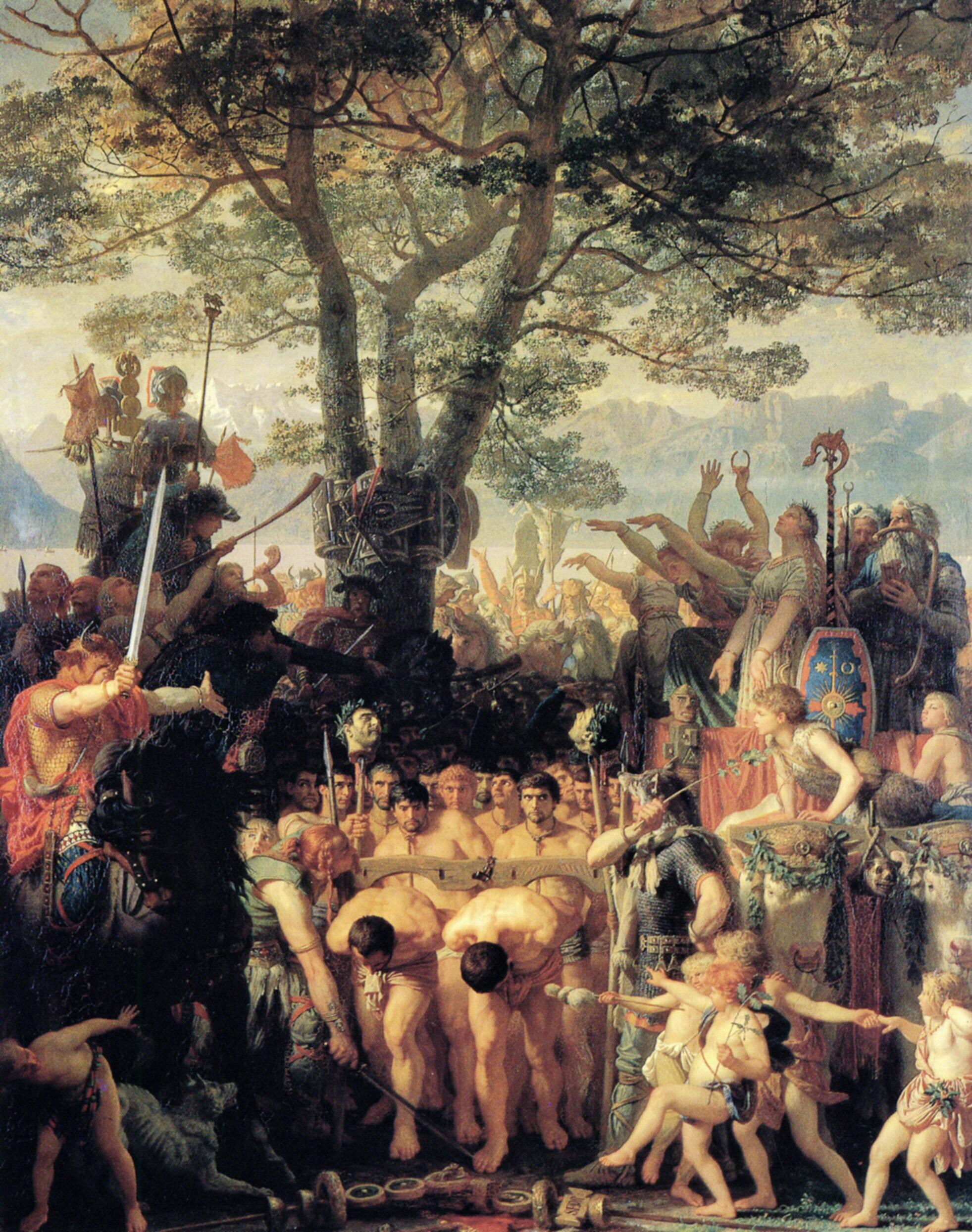 """Марк Габриэль Шарль Глейр, """" Пленные римские воины под ярмом у германцев"""""""