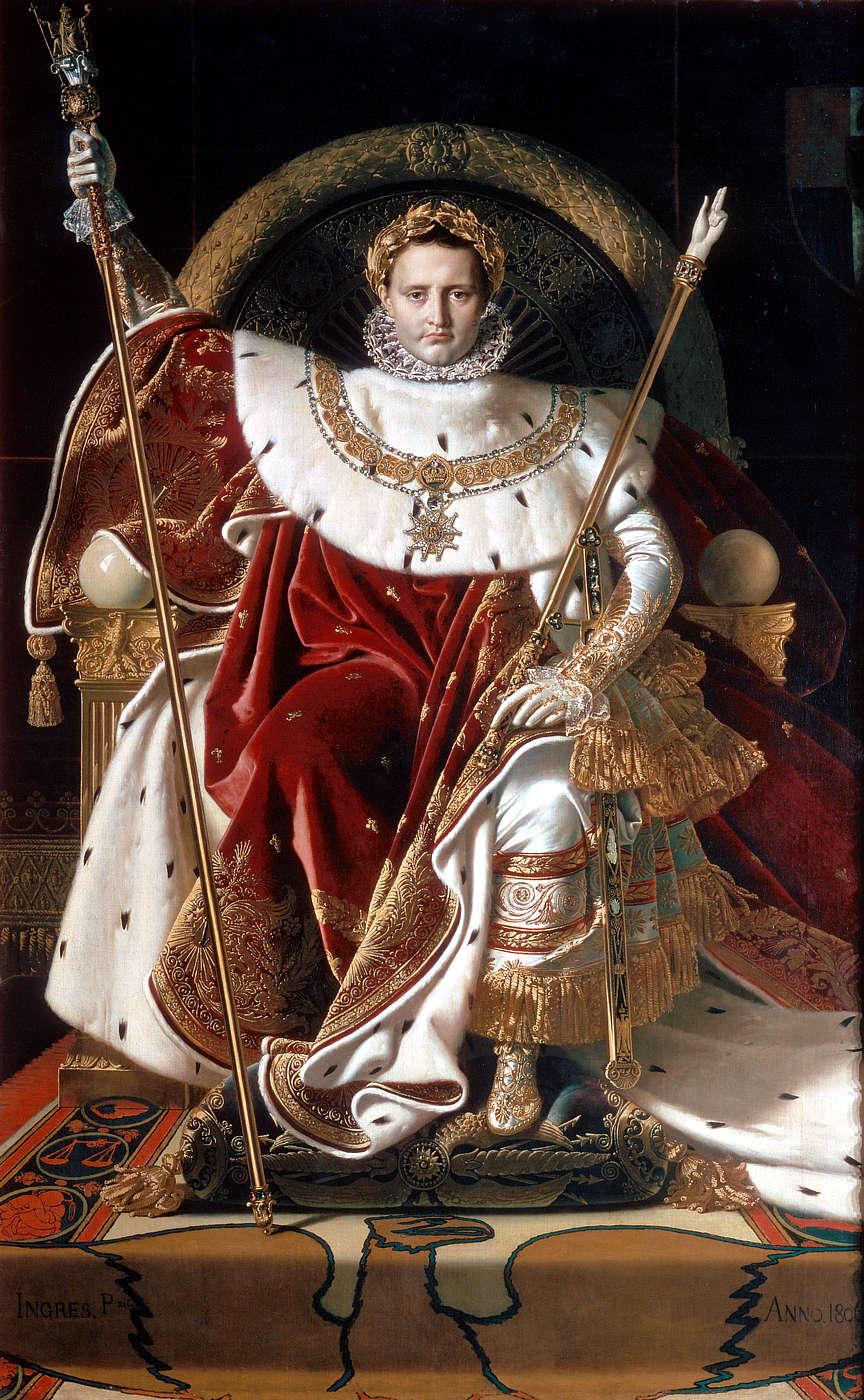 Наполеон на императорском троне[en]. Энгр (1806) Энгр, Жан Огюст Доминик