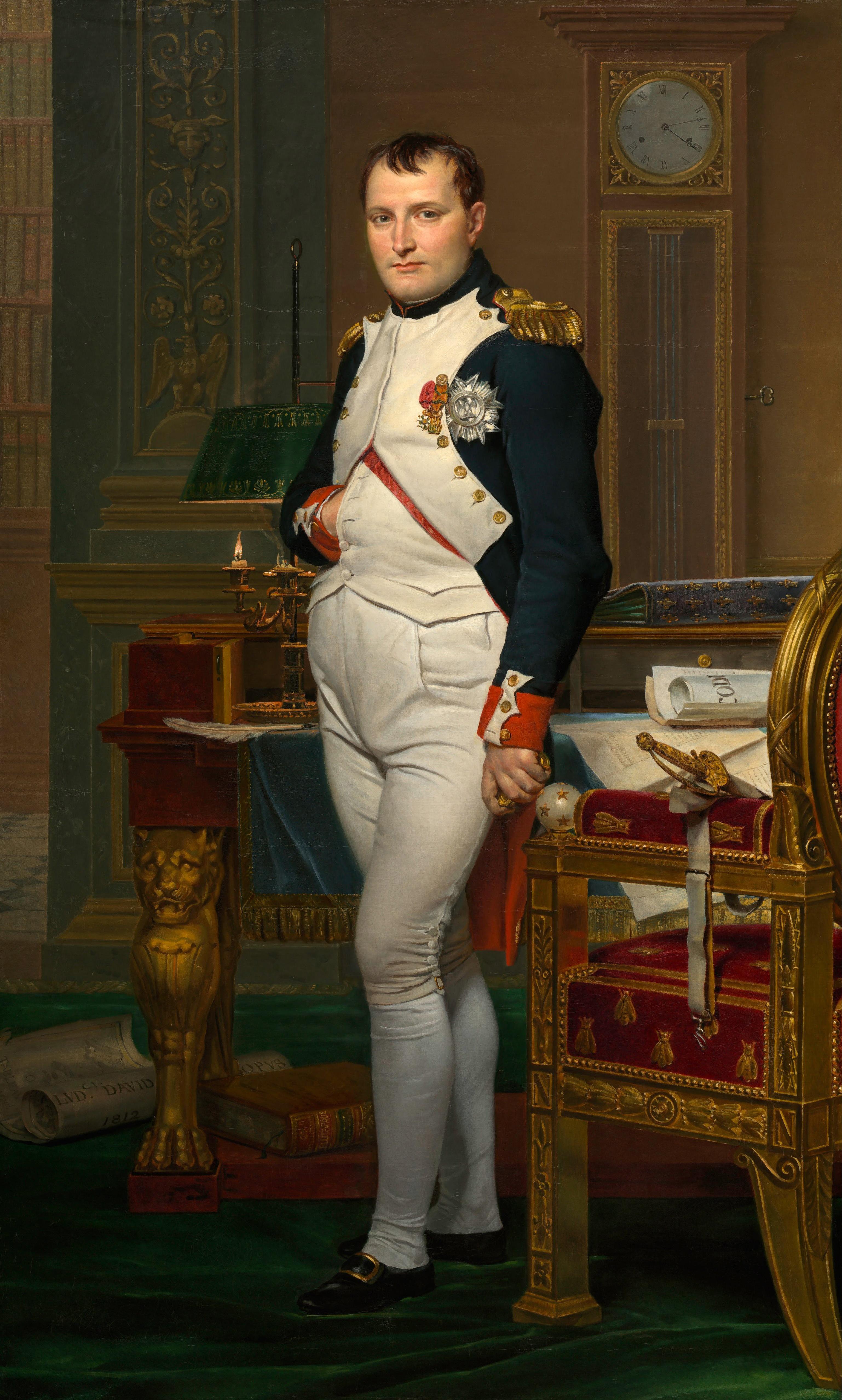 Император Наполеон в своём кабинете в Тюильри, Жак-Луи Давид