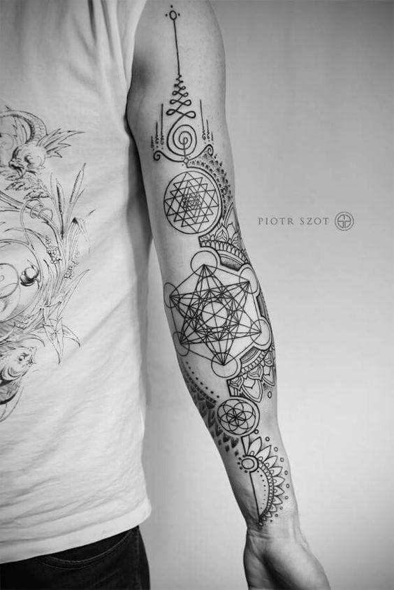geometritial tattoo