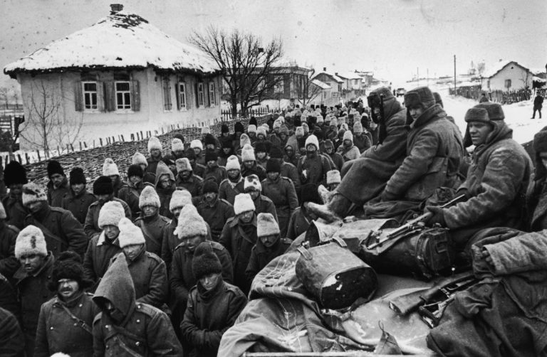 Пленные румыны под Сталинградом