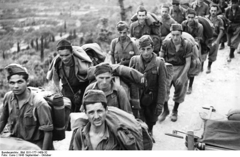 Korfu, italienische Soldaten