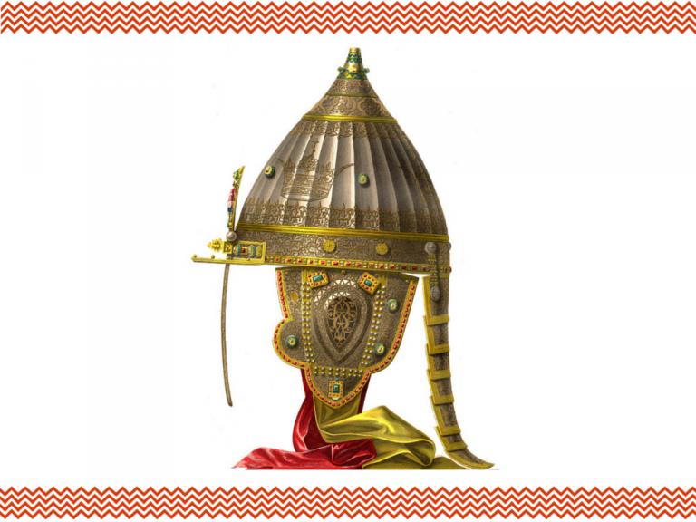 Зачем на шлеме Александра Невского былы написаны слова из Корана