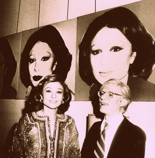 Andy-Warhol-Queen-Farah-in-Iran-1960s