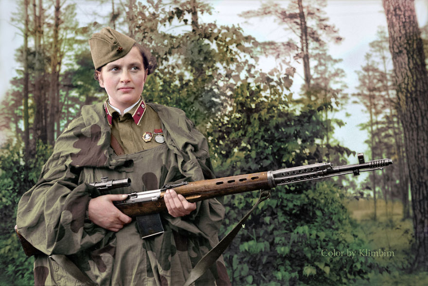 Lyudmila-Pavlichenko.-Soviet-Sniper-During-World-War-II.-Credited-With-309-Kills-She-Is-Regarded-As-The-Most-Successful-Female-Sniper-In-History-1940