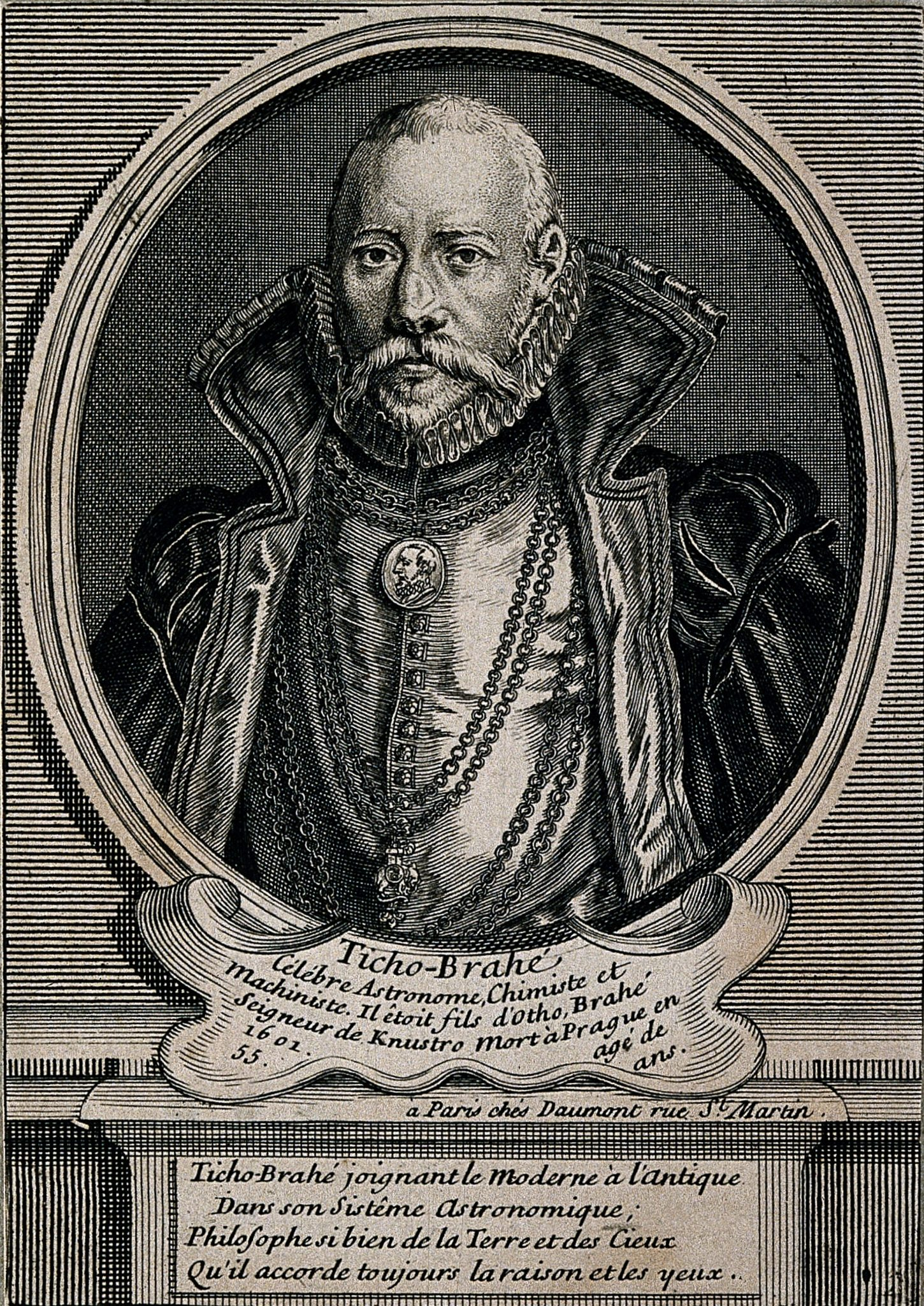 V0000744 Tycho Brahe. Line engraving after T. Gemperlin, 1586. Credit: Wellcome Library, London. Wellcome Images images@wellcome.ac.uk http://wellcomeimages.org Tycho Brahe. Line engraving after T. Gemperlin, 1586. 1586 By: T. GemperlinPublished: - Copyrighted work available under Creative Commons Attribution only licence CC BY 4.0 http://creativecommons.org/licenses/by/4.0/