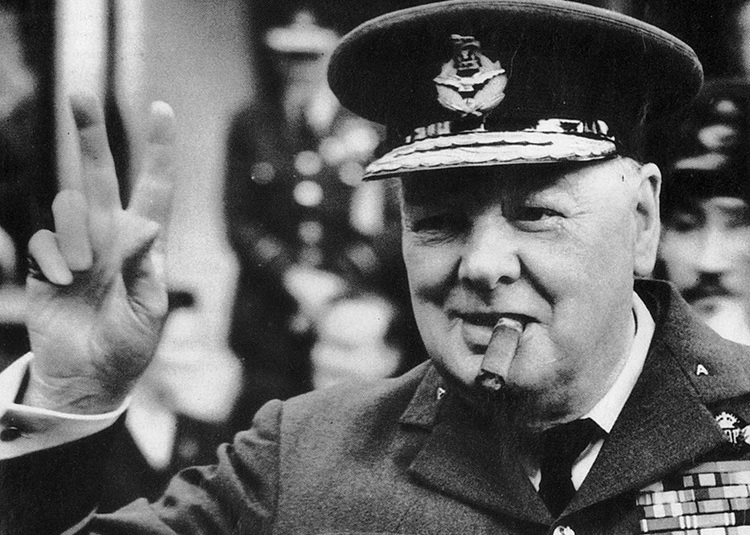 the contributions of winston churchill to the allied victory during world war ii