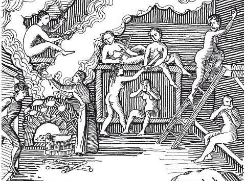 фото совместная баня мужчин и женщин