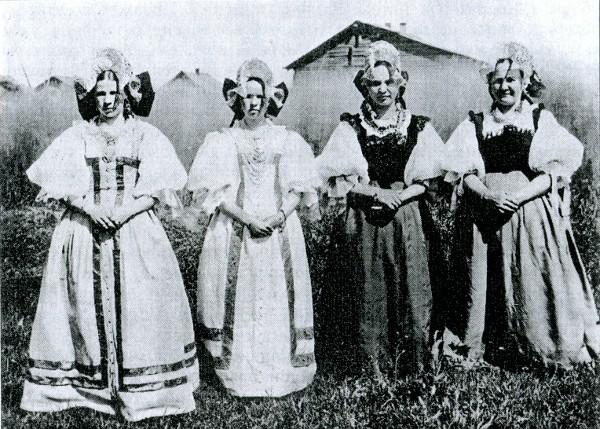 Русская деревенская баба и мужик