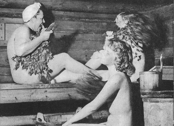 Русские ретро в бане американками сочными
